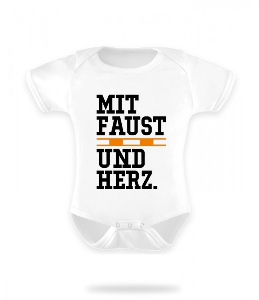 Faustball Herz Baby Body